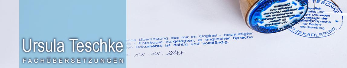 Übersetzungsbüro Ursula Teschke